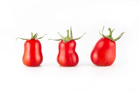 Three roma tomatoes