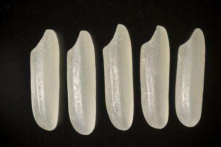 Extreme macro of Thai jasmine white rice