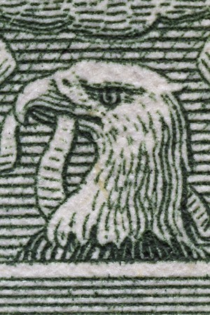 Extreme closeup of the eagle on the one dollar bill Stock Photo - 8072219