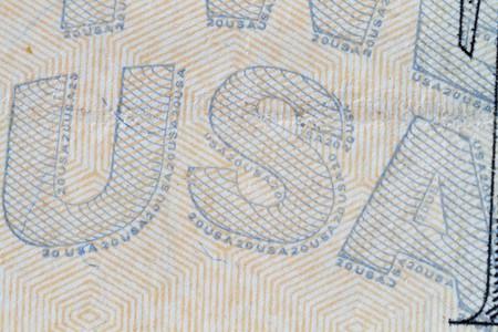Extreme closeup of the USA on the Twenty dollar note Stock Photo - 8072215