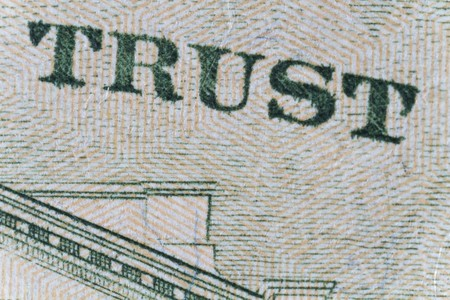 Extreme closeup of the one dollar note  Stock Photo