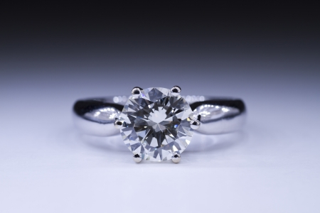 engagement: Two carat diamond ring