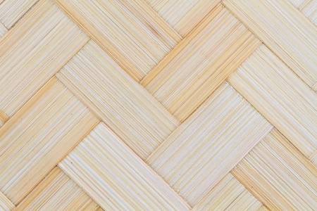 Bamboo strips close-up in a crisscross pattern