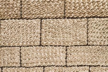 Brick themed icing close-up Stock Photo