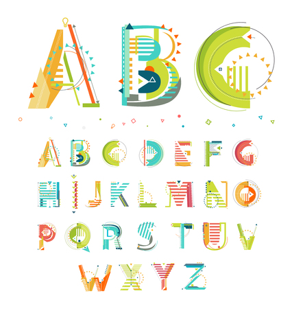 Alphabet / style géométrique / Lettres