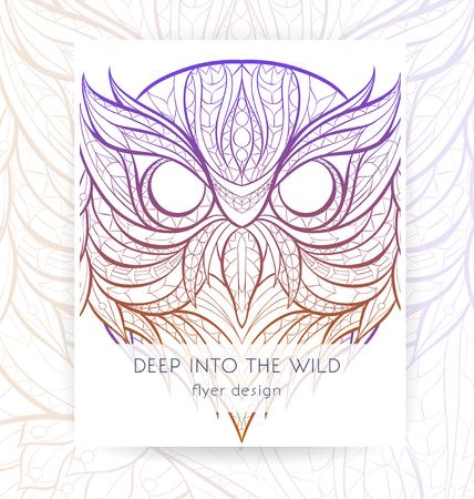 Owl Purple Grunge Therapist Bag