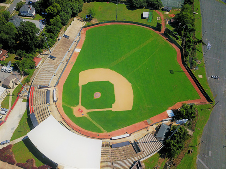 Baseball field from above