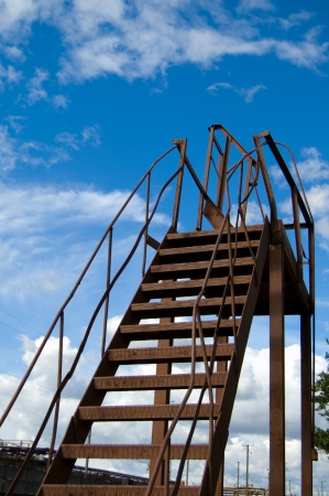steelwork: Metalware in shape of stairs to the sky