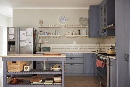 Interior of kitchen area in a country style home
