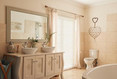 Stylish bathroom interior in a modern suburban home