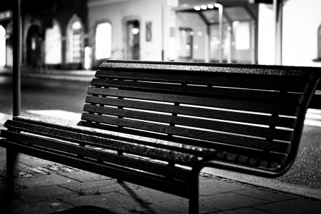 Free bench outdoors  Germany, Hof Banque d'images