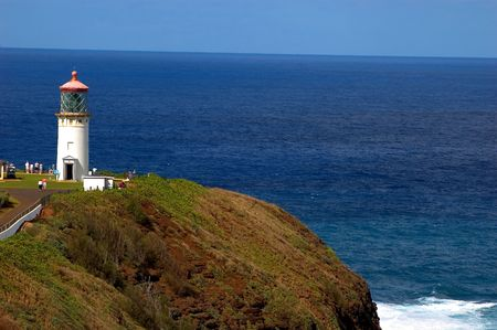 kilauea light house on the north coast of kauai