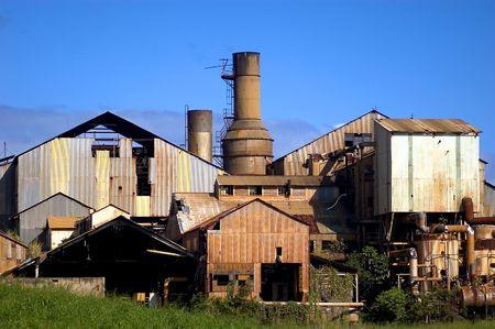 kauai: decaying sugar mill in western kauai