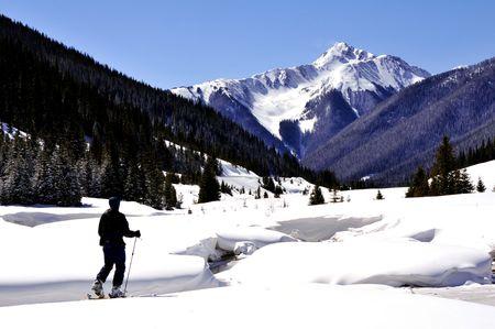 back-country ski touring in colorado Stock Photo