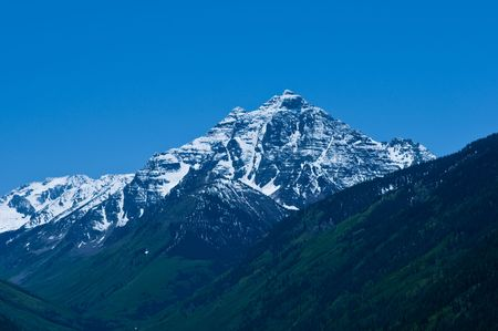 pyramid peak: Pyramid Peak, near Aspen Colorado Stock Photo