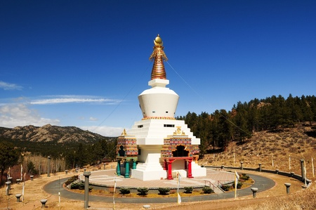 the stupa of dharmakaya near red feather lakes, colorado