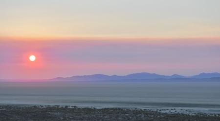 sun rise in the black rock desert