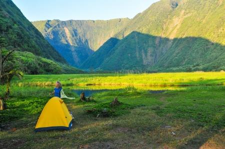 morning light on the waimanu valley, hawai'i