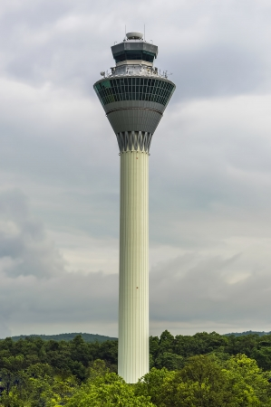 KLIA, Malaysia - FEBRUARY 24  The view of KLIA  Kuala Lumpur International Airport   tower with cloudy scene on February 24, 2013  It s 1st principal airport in Malaysia