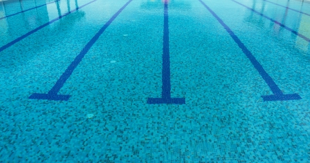 A line at swimming pool photo