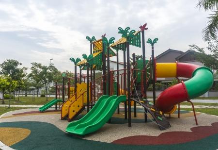 school playground: Modern children playground