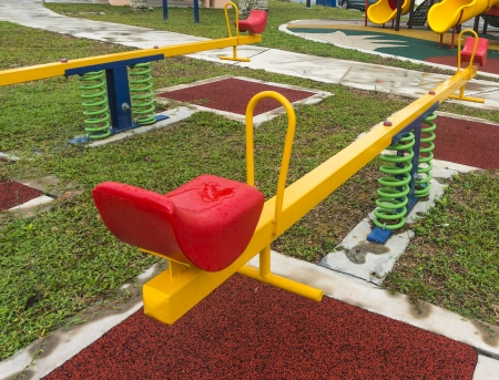 Modern children playground photo