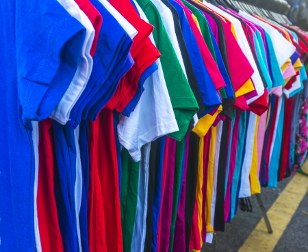 Colorful shirt at market photo
