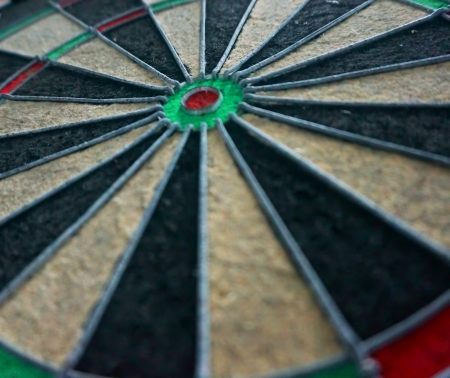 dart board: The dart board