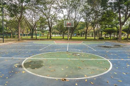 abandon outdoor basketball court photo