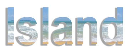 water wave: Strand met water wave