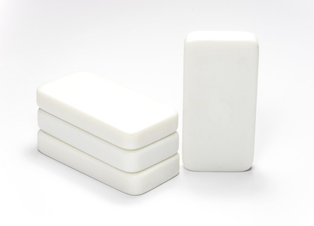 Rectangle cubes on white background photo
