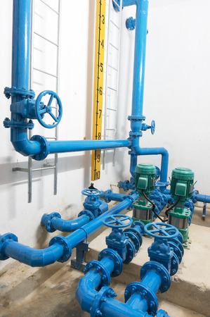 transducer: water pump room Stock Photo