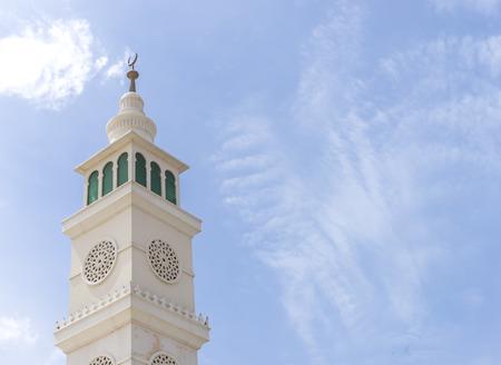 Minaret van de moskee