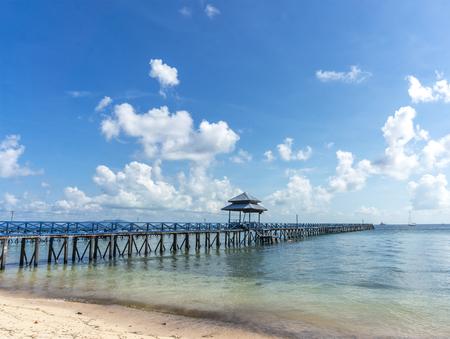 mabul: Jetty beach Stock Photo