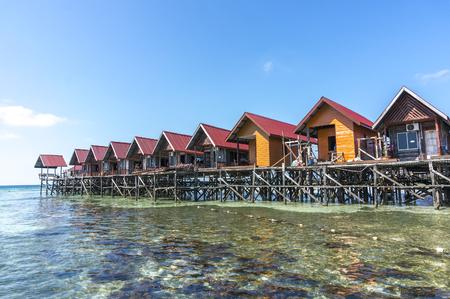 mabul: Water bungalows at Mabul Island in Borneo, Malaysia