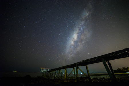 milkyway: Milkyway with jetty foreground silhouette. Slighty noise due to high ISO