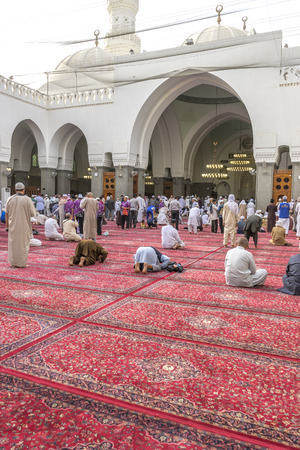 mohammad: MEDINA, SAUDI ARABIA - MAR 07 : Muslims pray inside Masjid Quba March 07, 2015 in Medina, Saudi Arabia. This is the first mosque built by Prophet Muhammad (pbuh) in Islam