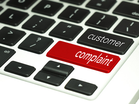 complaint: service code language customer complaint in keyboard button.