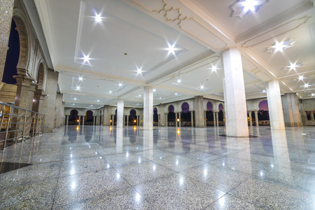 Shining marble floor at corridor