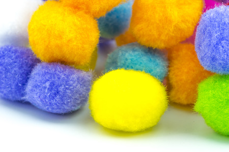 cotton wool: Colorful cotton wool Stock Photo