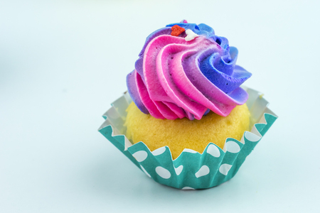 buttercream: Vanilla cupcakes with buttercream icing and various decorations