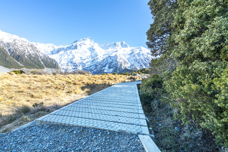 hooker: Hooker valley walking trek in Mouth Cook, New Zealand