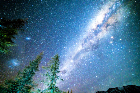 anau: Milky way from glentanner campsite, New Zealand.