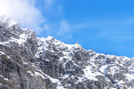 te: Top Mountains Covered With Snow - Southern Alps, New Zealand