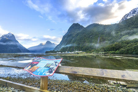 milford: Mountain view at Milford Sound, New Zealand Editorial
