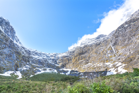 fiordland: Mount to milford sound, New Zealand Stock Photo