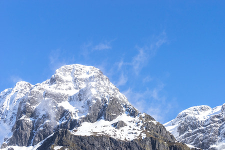 te: Mountains Covered With Snow - Southern Alps, New Zealand