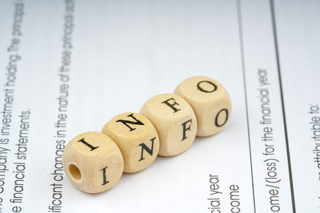 total loss: Wooden letter cube. Business concept.