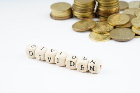yellow coins stacking with finance bussiness concept.