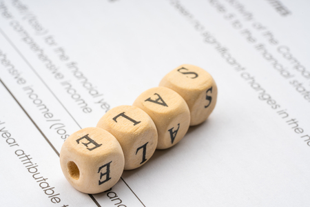 Wooden letter cube. Business concept.